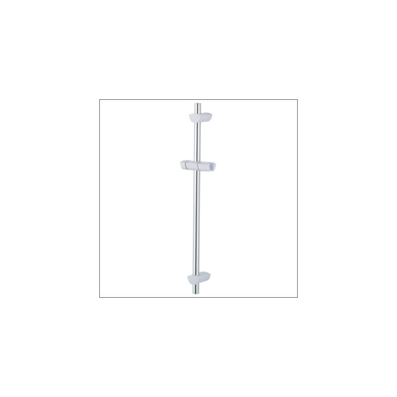 Bristan EVO Riser Rail with Adjustable Brackets White/Chrome