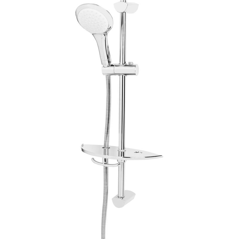 Bristan Economy Single Function Slide Bar Shower Kit Chrome