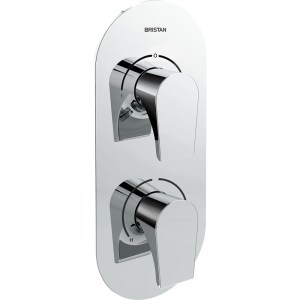 Bristan Hourglass Dual Control Shower Valve with Two Outlets