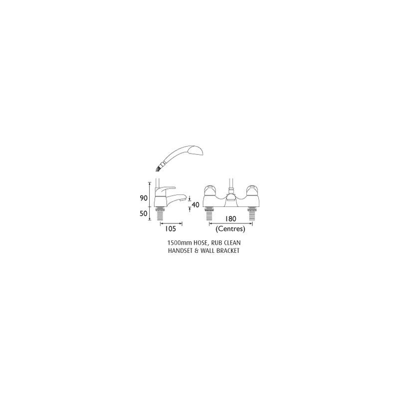 Bristan Java Bath Shower Mixer 6 Litre per Minute Flow
