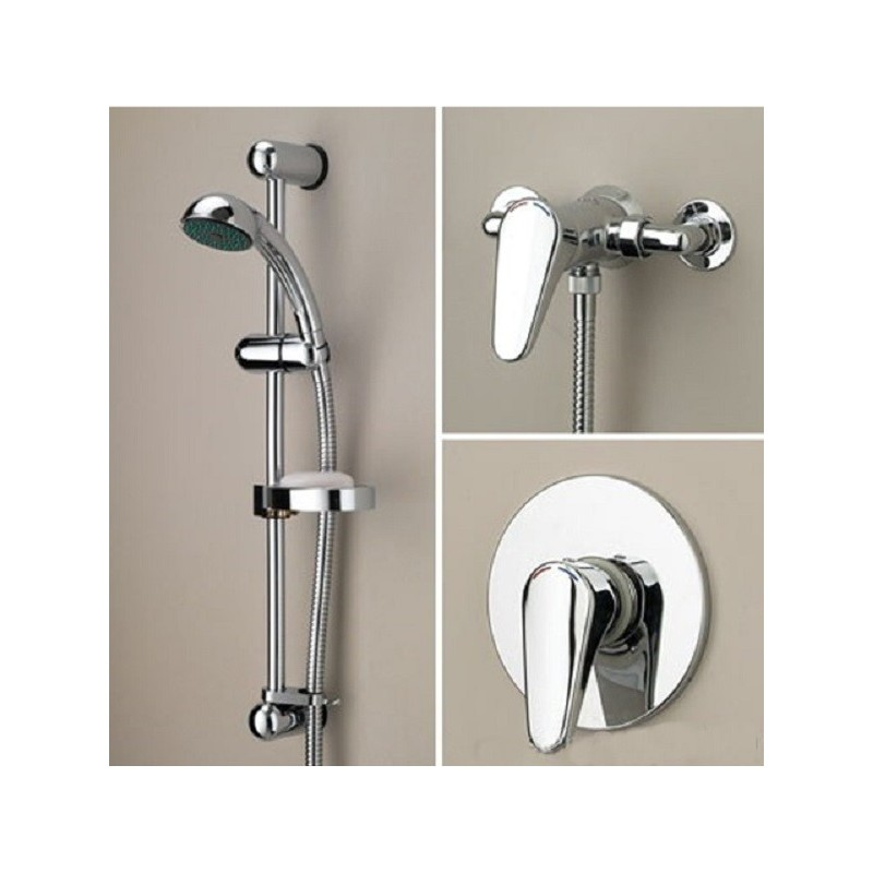 Bristan Jute Exposed Manual Shower with Single Mode Kit Chrome
