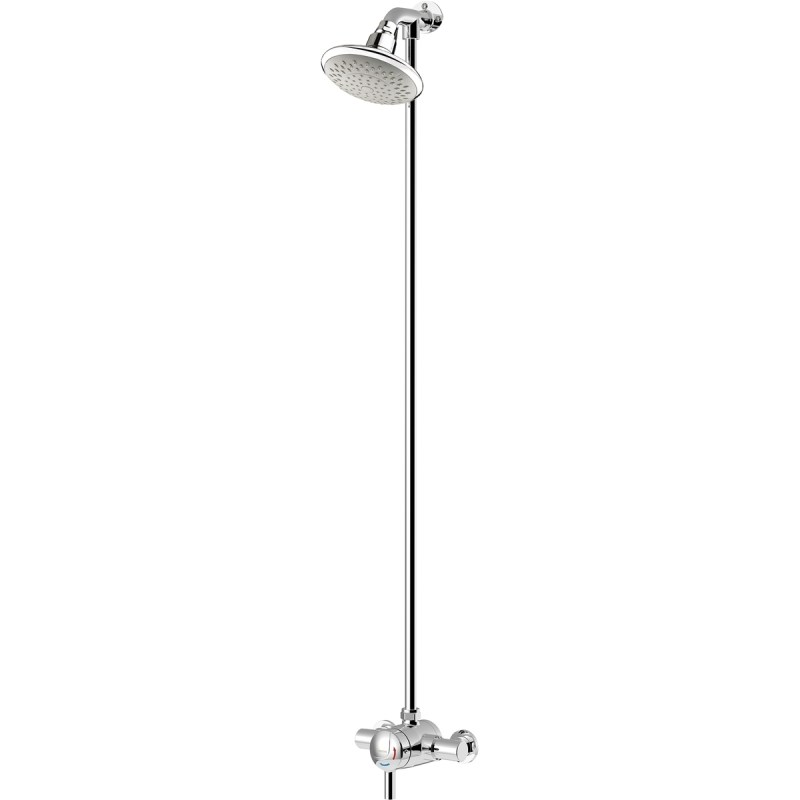 Bristan Thermostatic Mini Shower Valve with Top Outlet Rigid Riser