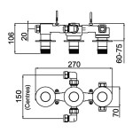 Bristan Orb Recessed Shower Valve with Diverter & Stopcock