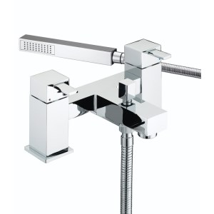 Bristan Quadrato Bath Shower Mixer 6 Litre per Minute Flow