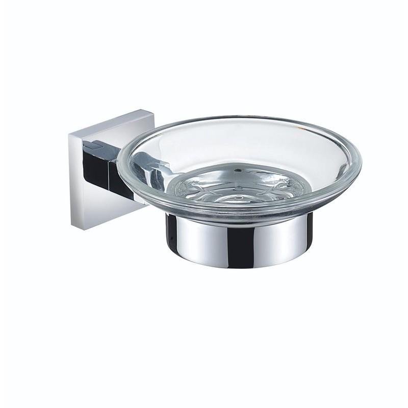 Bristan Square Soap Dish Brass Chrome