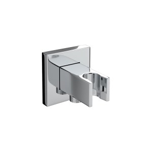 Bristan Square Wall Outlet with Handset Holder