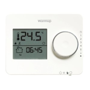 Warmup Tempo Digital Programmable Thermostat Porcelain White