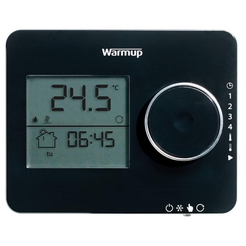 Warmup Tempo Digital Programmable Thermostat Piano Black