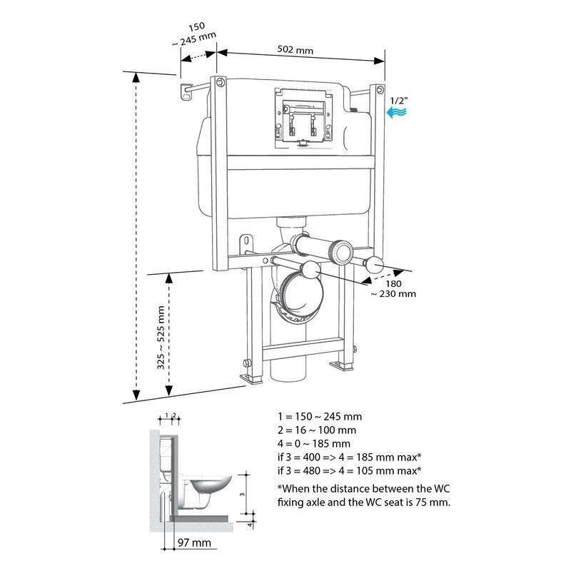 Bathrooms To Love Low Height WC Frame