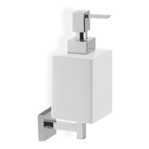 Bathrooms To Love Lissi Wall Soap Dispenser Chrome & White