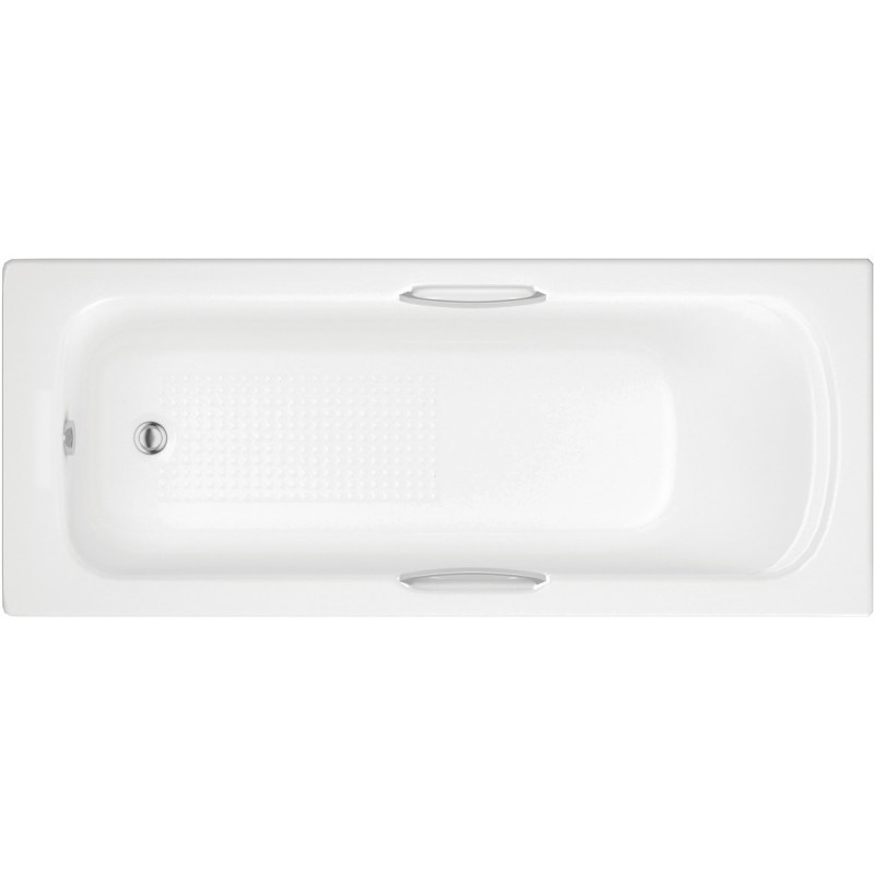 Bathrooms To Love Granada II Textured 1700x700mm Bath with Grips