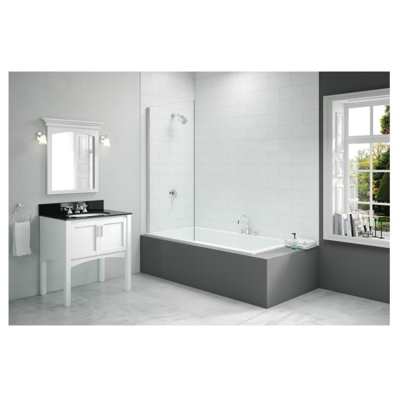 Merlyn 800x1500mm Single Fixed Square Bath Screen