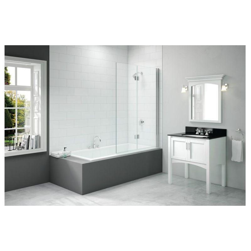Merlyn 900x1500mm 2-Panel Hinged Bath Screen Right Hand