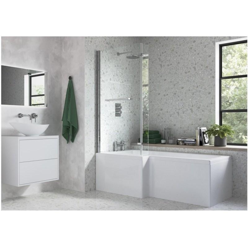 Bathrooms To Love L Shape Bath Screen