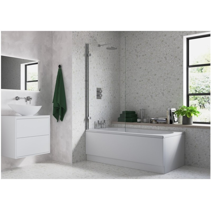Bathrooms To Love Hinged Straight Edge Bath Screen