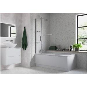 Bathrooms To Love Two Panel Folding Bath Screen