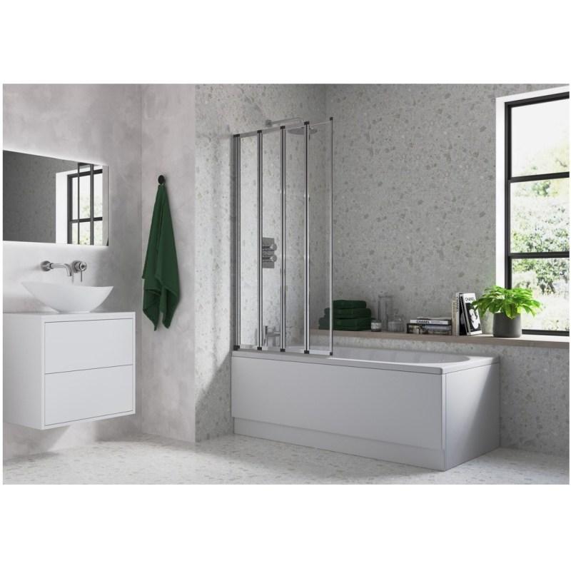 Bathrooms To Love Framed Four Fold Bath Screen