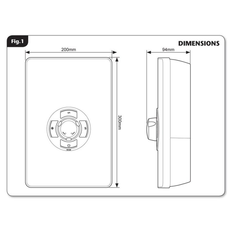 Triton Aspirante 9.5kW Contemporary Electric Shower Black Gloss