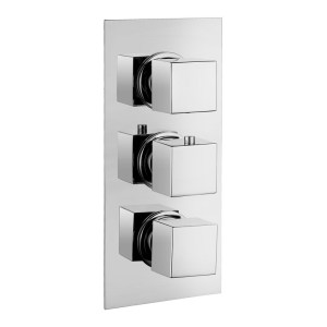 Bathrooms To Love Kuba Thermostatic 2 Outlet Triple Shower Valve
