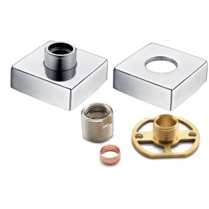 Bathrooms To Love Square Shower Valve Fast Fitting Kit (Pair)