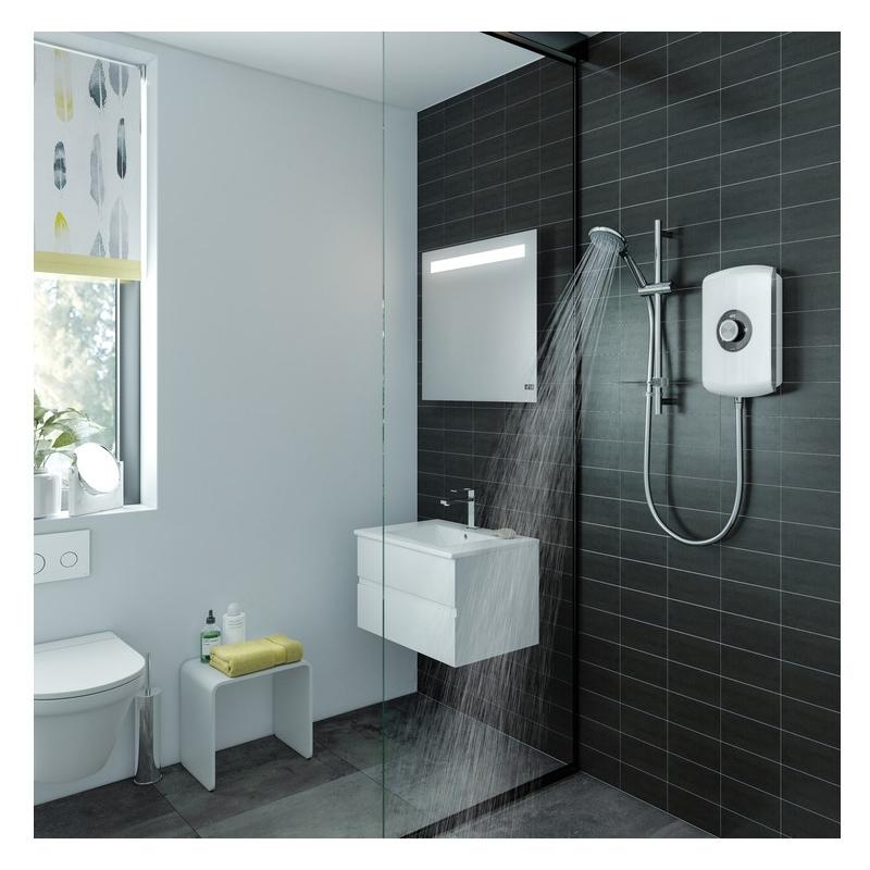 Triton Amore Electric Shower 8.5kW Black Gloss