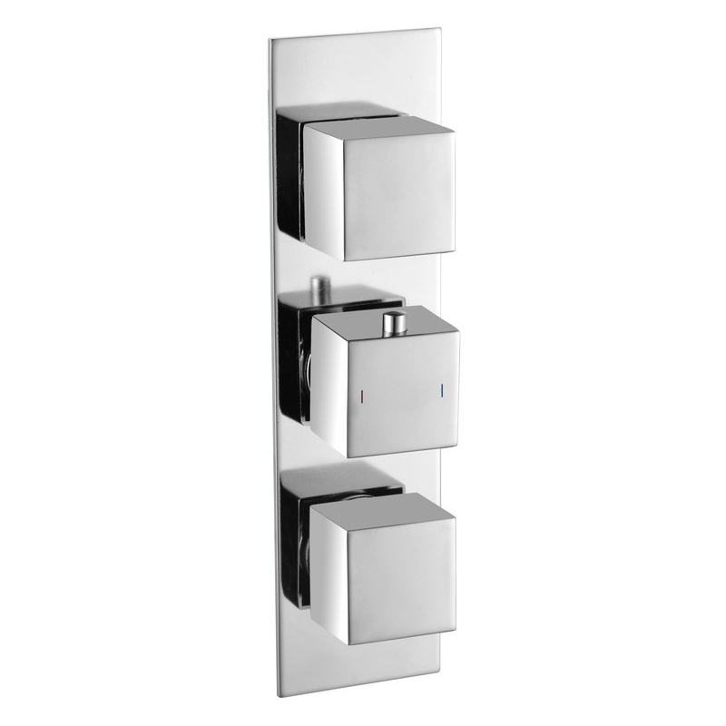 Bathrooms To Love Rhomba 2 Outlet Slim Plate Triple Shower Valve