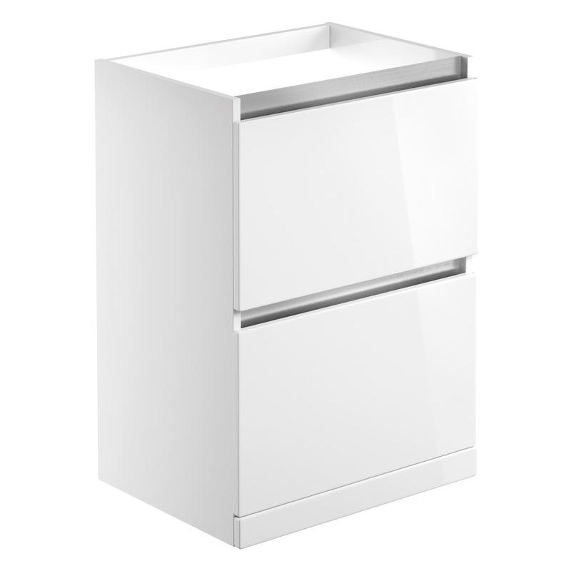 Bathrooms To Love Carino 600mm Floor Standing Basin Unit White