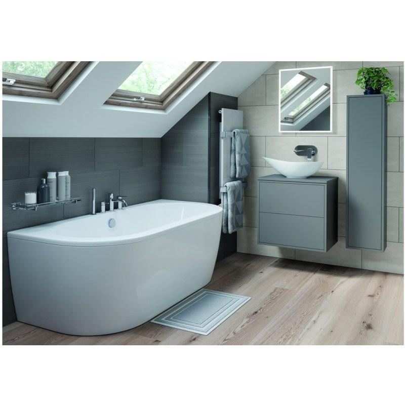 Bathrooms To Love Perla 300mm 1 Door Wall Hung Tall Unit Matt Grey