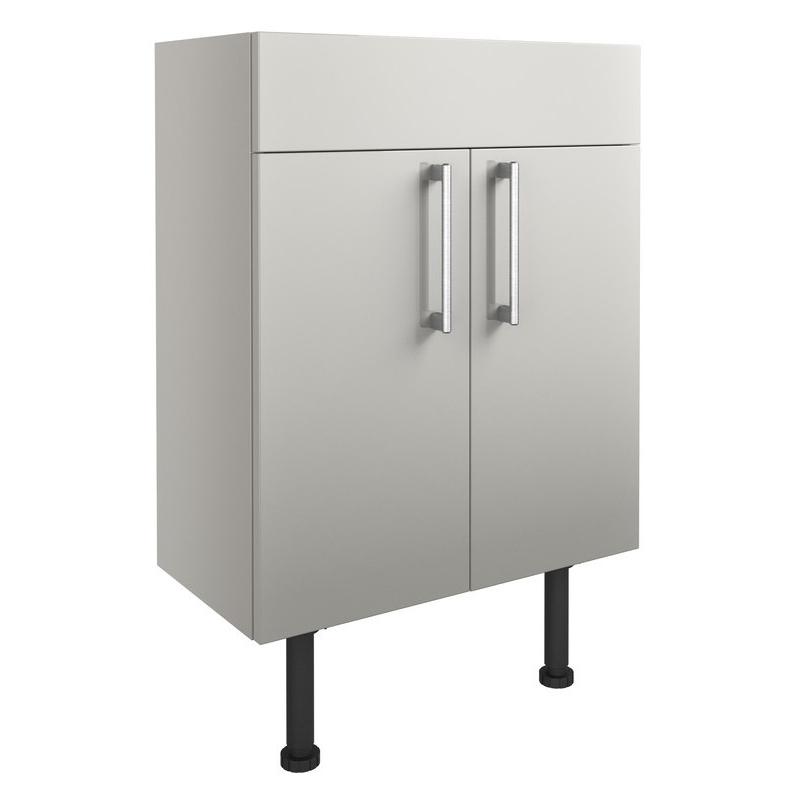 Bathrooms To Love Alba 600mm Vanity Unit Light Grey Gloss