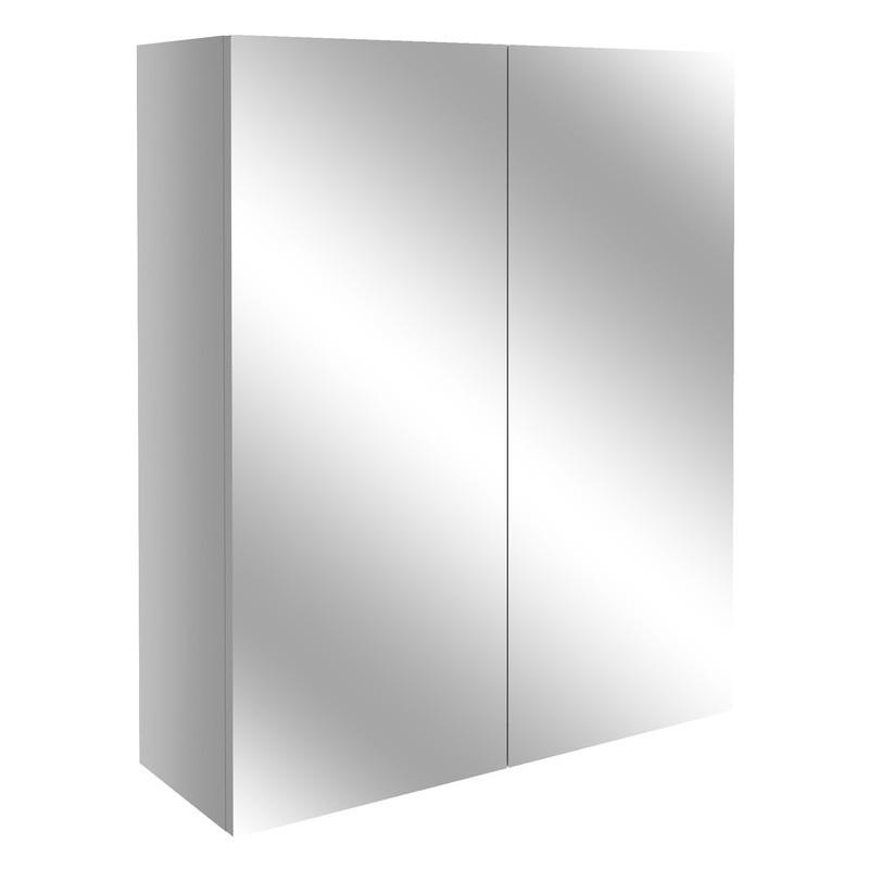 Bathrooms To Love Alba 600mm Mirrored Unit Light Grey Gloss