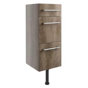 Bathrooms To Love Alba 300mm 3 Drawer Unit Grey Nebraska Oak