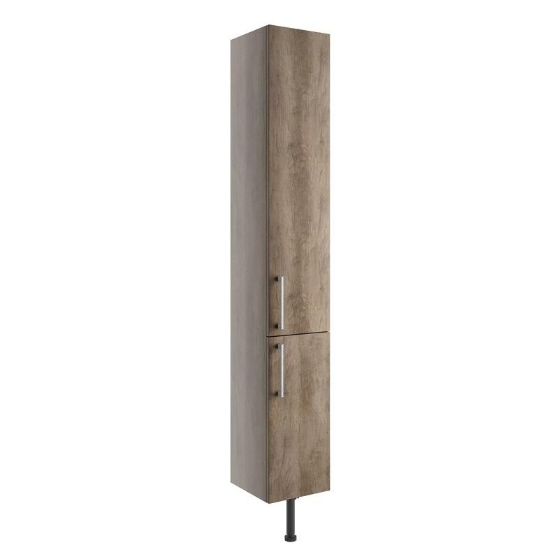 Bathrooms To Love Alba 300mm 2 Door Tall Unit Grey Nebraska Oak