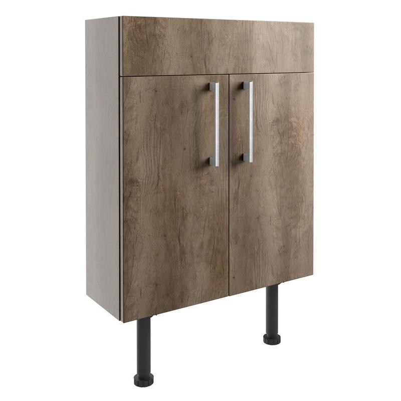 Bathrooms To Love Alba 600mm Slim Vanity Unit Grey Nebraska Oak
