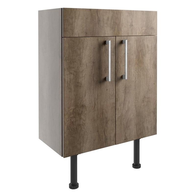 Bathrooms To Love Alba 600mm Vanity Unit Grey Nebraska Oak