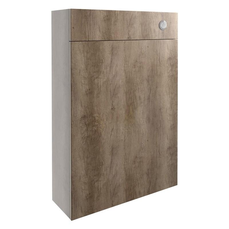 Bathrooms To Love Alba 600mm Slim WC Unit Grey Nebraska Oak