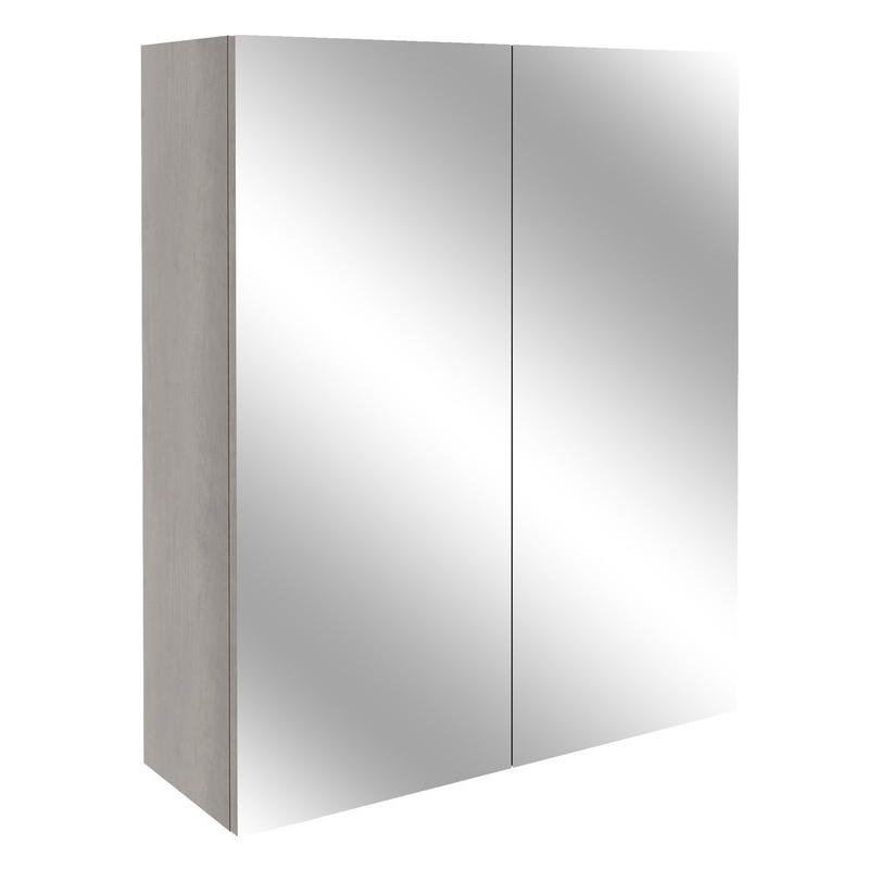 Bathrooms To Love Alba 600mm Mirrored Unit Grey Nebraska Oak