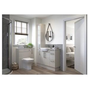 Bathrooms To Love Alba 2200x330mm Tall End Panel Light Grey