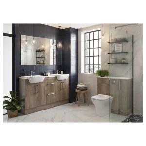 Bathrooms To Love Alba 2200x330mm Tall End Panel Oak