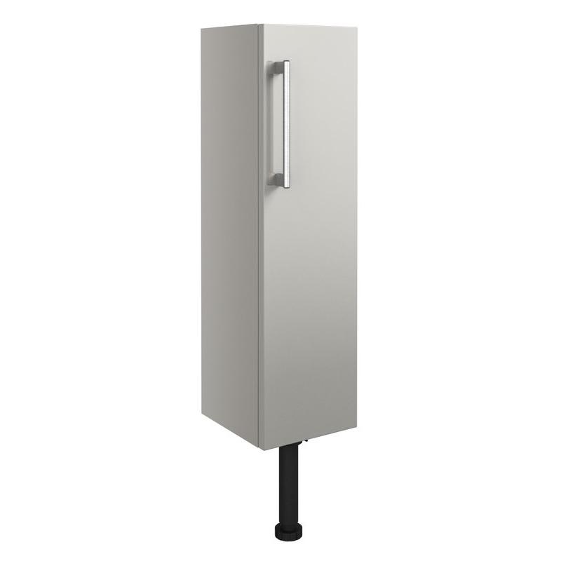 Bathrooms To Love Alba 200mm Slim Base Unit Light Grey Gloss