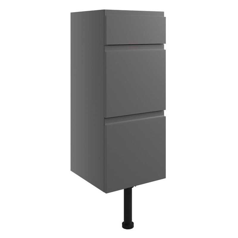 Bathrooms To Love Valesso 300mm Drawer Unit Onyx Grey Gloss