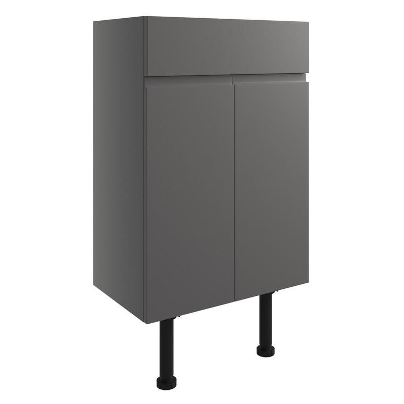 Bathrooms To Love Valesso 500mm Vanity Unit Onyx Grey Gloss