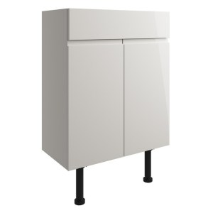 Bathrooms To Love Valesso 600mm Vanity Unit Pearl Grey Gloss