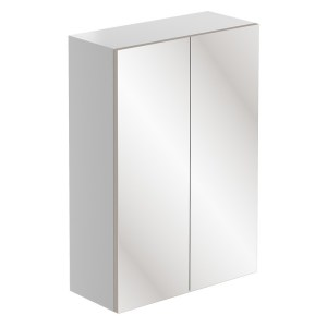 Bathrooms To Love Valesso 500mm Mirrored Unit White Gloss