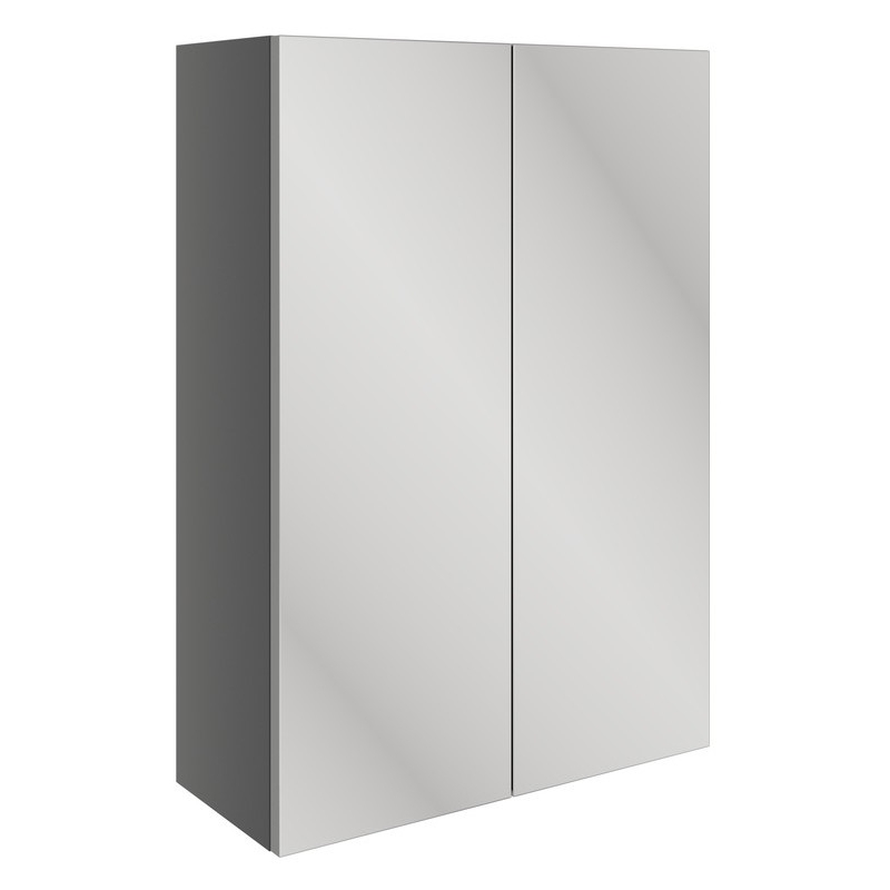 Bathrooms To Love Valesso 500mm Mirrored Unit Onyx Grey Gloss
