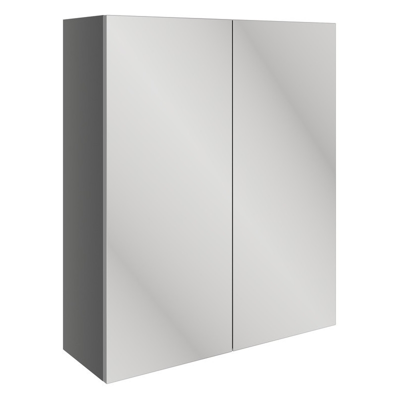 Bathrooms To Love Valesso 600mm Mirrored Unit Onyx Grey Gloss