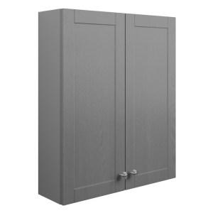 Bathrooms To Love Benita 600mm 2 Door Wall Unit Grey Ash