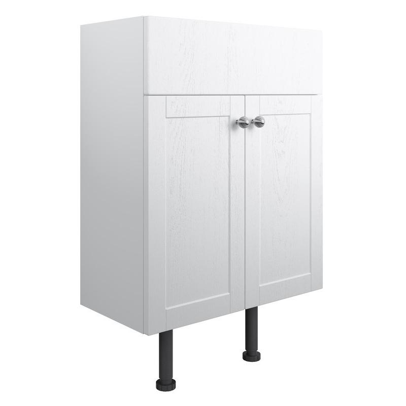 Bathrooms To Love Benita 600mm 2 Door Vanity Unit Satin White Ash