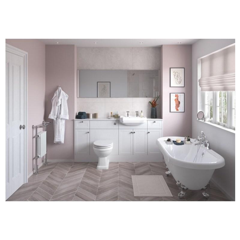 Bathrooms To Love Benita 900x330mm End Panel Satin White Ash