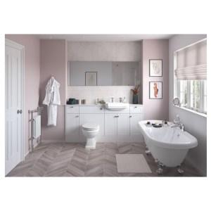 Bathrooms To Love Benita 330x2200mm Tall End Panel Satin White