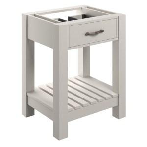 Bathrooms To Love Manhattan 600mm Floor Vanity Unit White Ash